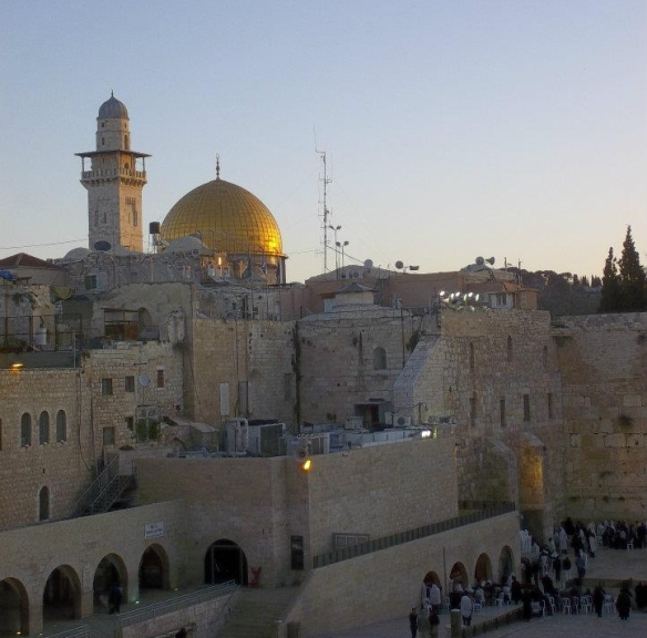 The Western Wall and the Dome of the Rock in Jerusalem