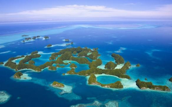 Aerial View Palau Islands