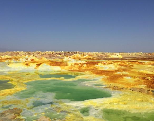 Sulphur fields Dallol Danakil Depression