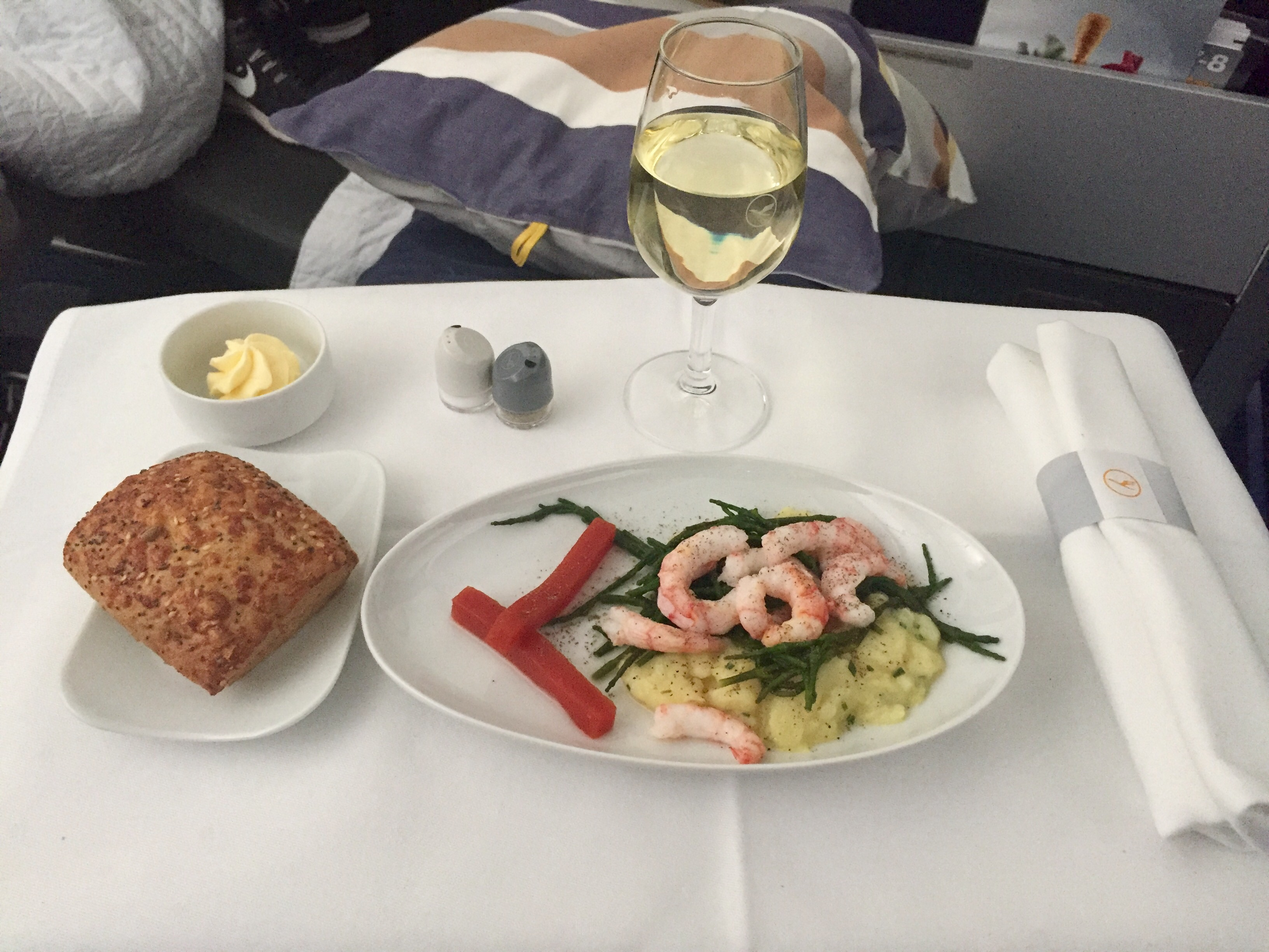 Lufthansa Business Class Meal