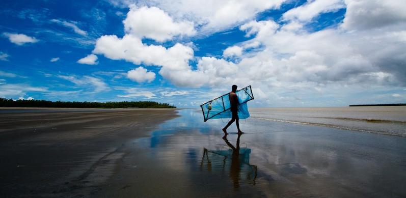 Fisher on Kuakata beach Bangladesh
