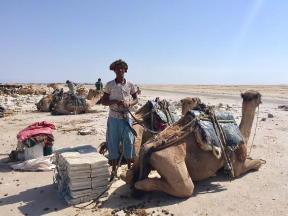 Salt Worker Danakil Depression