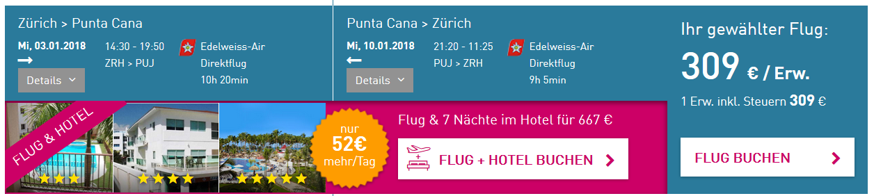 Zurich Punta Cana Cheap Flight
