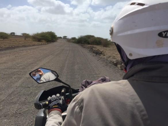 Riding a quad bike in Cape Verde