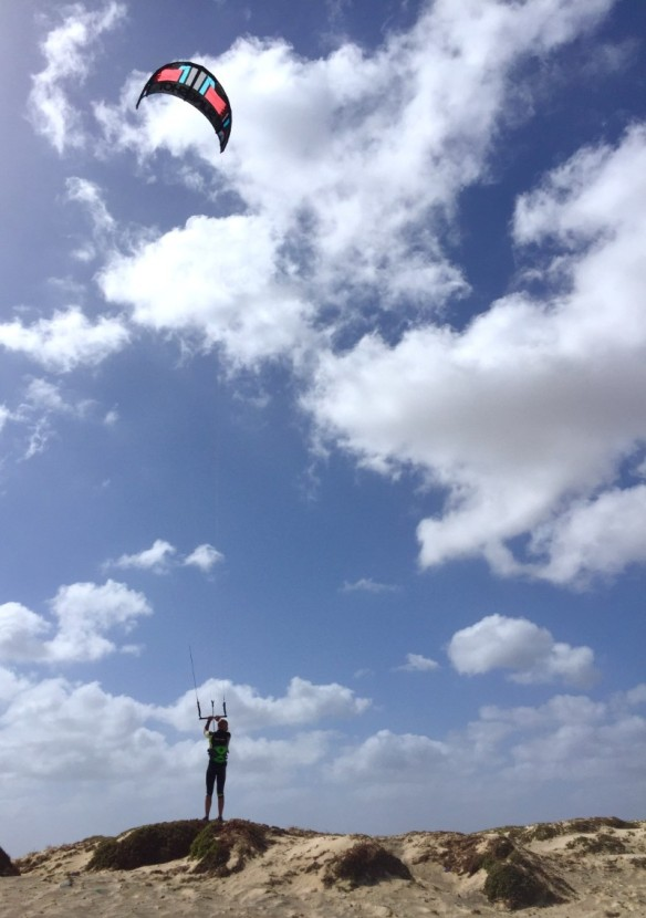 Kite surfer in Sal Cape Verde on Kite Beach