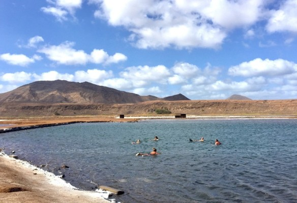 People floating in salt lake pedra de lume