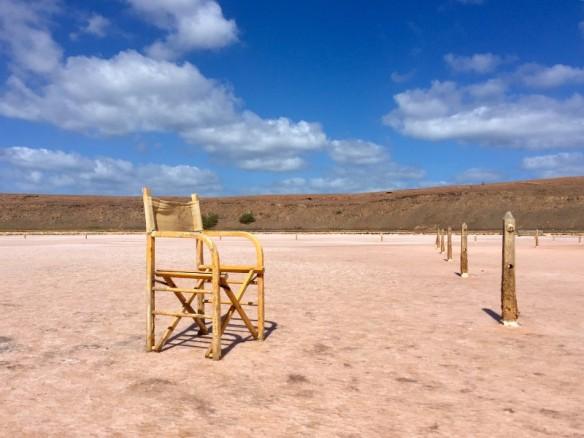 Chair on Salt Lake Salinas Pedra de Lume